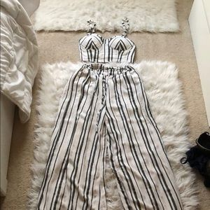 Matching striped pant/top set